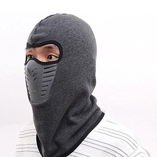Cagoule coupe-vent - Chaud pour l'hiver - Protection du visage et du cou - Pour les sports d'extérieur, la moto, le snowboard, le vélo et le ski