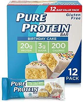 12-Pack Pure Protein High Protein Gluten Free Bars (Birthday Cake)