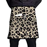 Darlene Ackerman(n) Delantal de Cintura de Leopardo con 1 Bolsillo Delantal de Camarera de Restaurante Delantales de Servidor para Medio Delantal Unisex