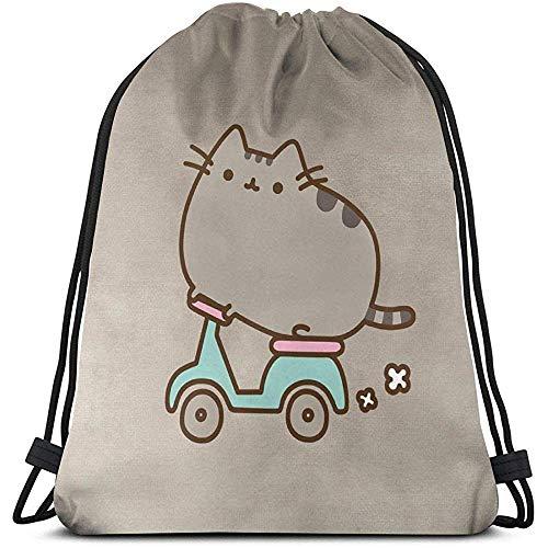 Medsforu Kordelzug Rucksack Tasche, Cinch Sack, Sport Sporttasche Für Frauen Oder Männer, Pusheen Cat