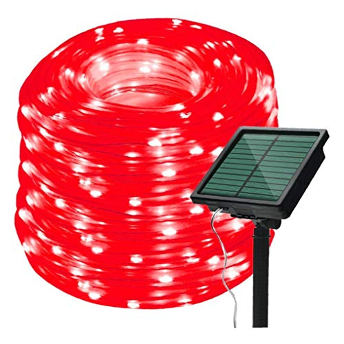TRUPADU STORE String Lights Outdoor Waterproof - 20m 200LED Solar Outdoor Light Waterproof Copper Wire Lamp String 8 Modes Multicolor Flash Fairy Light for Wedding Garden Christmas Decor (Red Light)