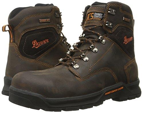 Danner Men's Crafter 6 Inch Non-Metallic Toe Work Boot, Brown, 9.5 D US