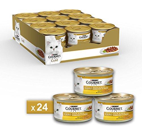 Purina Gourmet Gold Feuchtwürfel in Sauce mit Huhn und Leber, 24 Dosen à 85 g, 24 Dosen à 85 g