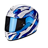 Scorpion Casco Moto EXO-710 AIR Furio, Pearl White/azul, LG