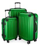 HAUPTSTADTKOFFER Spree - 3er Koffer-Set Trolley-Set Rollkoffer Reisekoffer, TSA, (S, M & L), Set di valigie, 75 cm, 259 liters, Verde (Grün)
