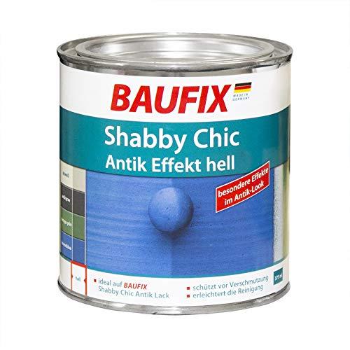 Baufix Shabby Chic Antik Effekt Hell Lack Farbe 0,375 l 375 ml