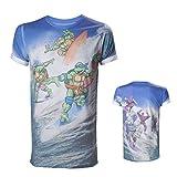 T-shirt 'Teenage Mutant Ninja Turtles' - All over surfing Turtles - Taille L