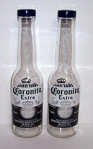 Corona Salt and Pepper Shakers (1 Pair of 7oz Coronita Extra Bottles and Caps) by Corona