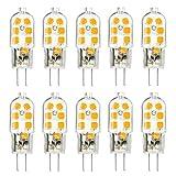 KINGSO 10 Pack Ampoule LED G4 3W Économie d'énergie Équivalent 25W Lampe Halogène/Incandescente...