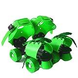Heshan Niños ajustables Patines de doble fila 4 ruedas Patinaje Zapatos deslizantes Patines en línea para niños