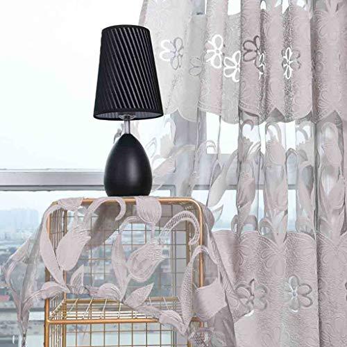 ToDIDAF Transparente Gardinen Vorhang, Blätter Vorhang Tüll Fenster Behandlung Voile drapieren Volant 2 Stoffbahnen für Zuhause Wohnzimmer Schlafzimmer Dekoration, 100 x 270 cm (Grau)