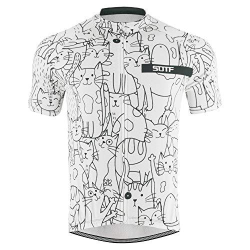 Summer Men Breathable Cycling Jersey Road Bike Short Sleeve Shirt Bicycle Wear QXSY31 M