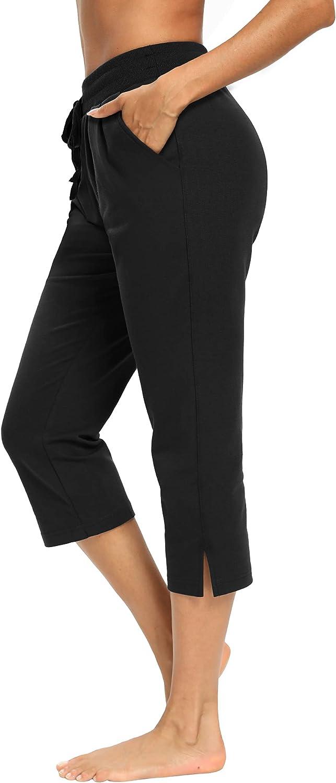 LEXISLOVE Capris for Women Casual Summer Leg Cheap mail order sales Crop San Jose Mall Wide Loo Pants