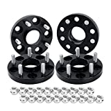 dynofit 5x4.5 20mm M12x1.5 64.1 Hubcentric Wheel Spacers for CR-V HR-V Element Crosstour Accord, 4pcs 5x114.3 Solid Wheels Spacer for RDX TLX CDX CSX ILX RSX TSX 5 Lug Rims and More