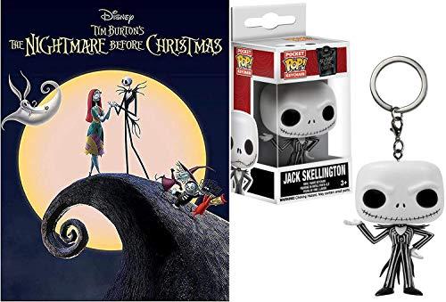 Jack's Favorite Halloween Holiday Bundle: Disney Nightmare Before Christmas Pop Figure Mini Jack Skellington & Tim Burton's The Nightmare Before Christmas DVD
