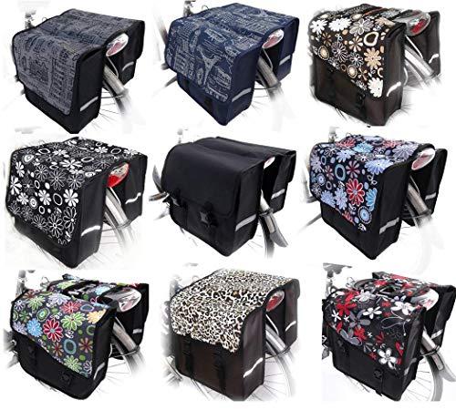 47 Rock White Design TJ-C Classic DS Animals /& Home Novely Fahrradtasche Jenny Satteltasche Gep/äcktr/ägertasche 2 x 14 Liter Form
