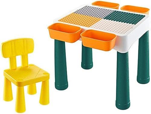 Hpptoy 4 in 1 Activity Tisch & Stühle Lerntisch Kreativer Multifunktions-Geb etisch Spieltisch Lernspielzeug für Kinder
