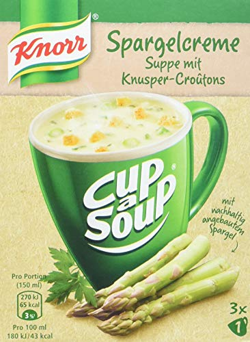 Knorr Cup a Soup Spargelcreme Instant Suppe (12 x 3 Tassen)