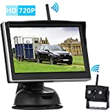 iStrong HD 720P Digital Wireless Backup Camera and 5'' Monitor Kit for Travel Trailers/RVs/Pickup/Vans/Trucks/Motorhomes Rear View /Front View Camera IP69 Waterproof Guide Lines ON/OFF