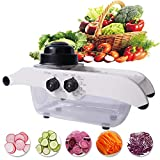 Mandoline Food Slicing Tool,Multi-function Mandolin Stainless Steel Vegetable Slicersr,Adjust the Thickness and Width Without Changing the Blade,Julienne Slicer with Fruits Potato Tomato Onion