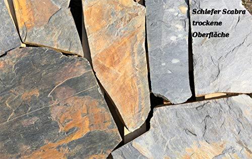 """Natursteinplatten Polygonalplatten Schiefer\""""Scabra\"""""""