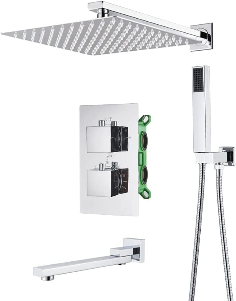 Challenge the Max 76% OFF lowest price IOPMIE Fixed Shower Bathroom R Chrome Faucet Thermostatic