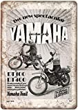 Mulica Yamaha Trail Bike Motorcycle Placa de Metal Vintage Placa de estaño Cartel Arte decoración de la Pared cartelera Bar Club Cafe Estudio Hotel