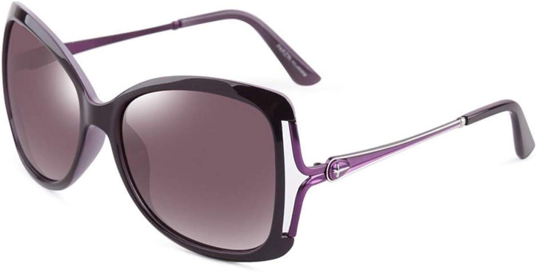 Fashion Polarized Sunglasses Female Large Frame Sunglasses Driver Driving Sunglasses Purple