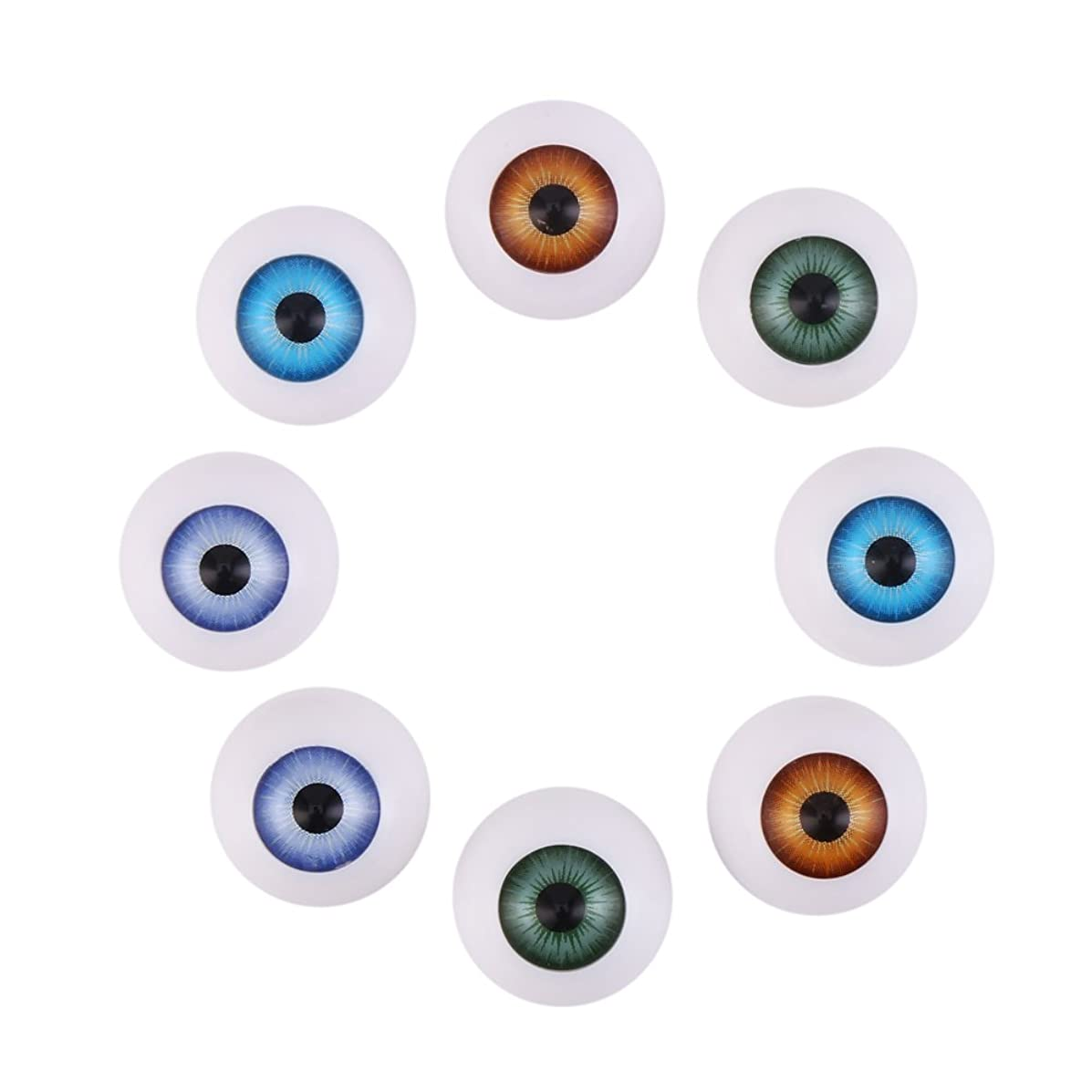 DECORA 20mm Half Round Acrylic Doll Bear Craft Plastic Eyes Eyeball For Doll and Craft Making