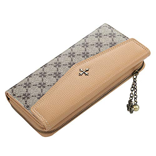 MNBVCX Multifuncional Cartera Larga Bolso De Mujer con Cremallera Bolso De Embrague De Cuero Femenino Bolso De Señora para Teléfono Móvil