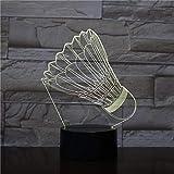 Nachtlicht Spaß Badminton-touch Kleine Nachtlicht 7 Farbe Touch Optische Bild Tischdekoration Lampe, Geeignet Für Schlafzimmer Bar Atmosphäre Lampe