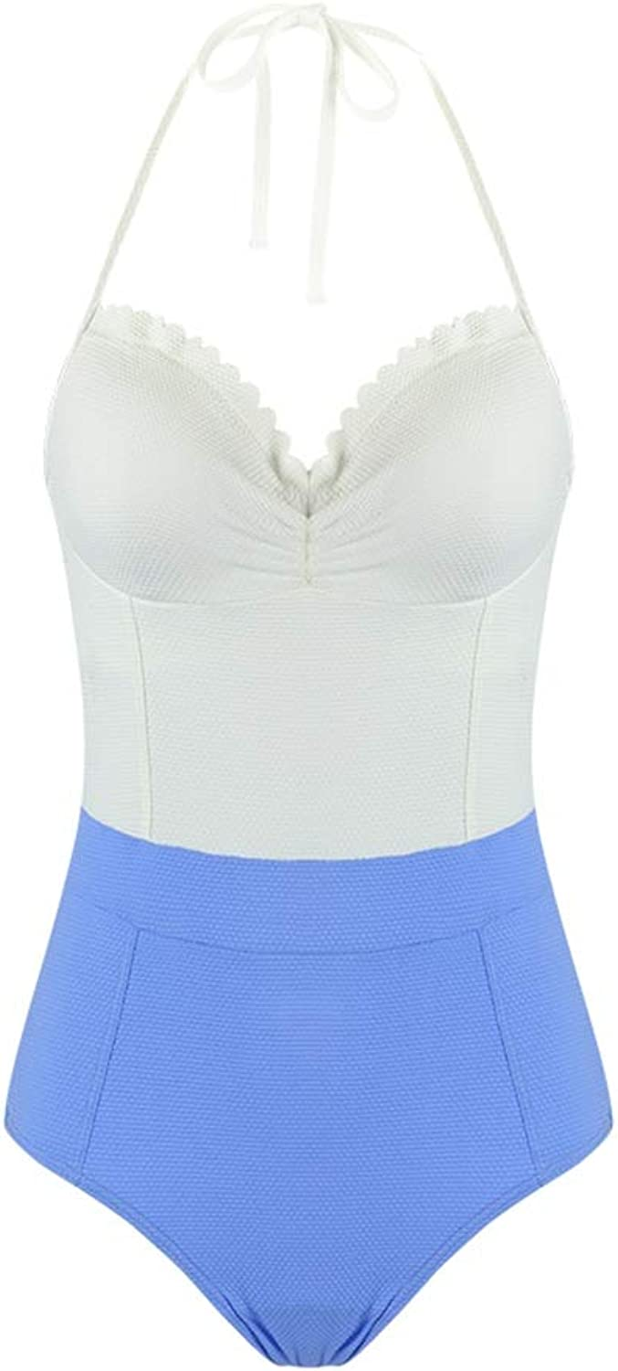 Swimsuit Female, Conjoined to Gather Sexy Slim Beach Swimsuit (color  White) (color   White, Size   XL)