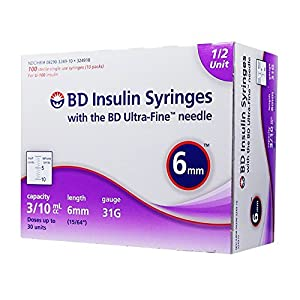 buy  BD Ultra-Fine Half Unit Insulin Syringes 31G ... Diabetes Care