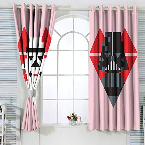 STTYE - Tenda oscurante con isolamento termico, motivo Star Wars Vader Star Wars Trooper, oscurante, per soggiorno, 42 x 72 cm