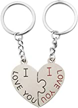 2pcs Couple Key Chain Ring Keyring Keyfob Lover Gift for Christmas Birthday Valentine's Day Anniversary Wedding by TheBigThumb