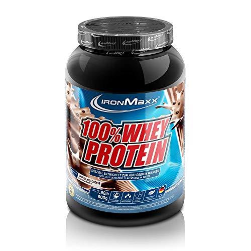 IronMaxx 100% Whey Protein – Proteinpulver auf Wasserbasis – hochwertiges Eiweißpulver für Proteinshake in 36 leckeren Geschmäckern – Chocolate & Cookies Geschmack – 1 x 900 g Dose