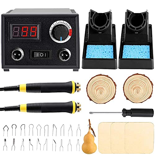 Professional Pyrography Tool Kit 60W Upgraded Wood...