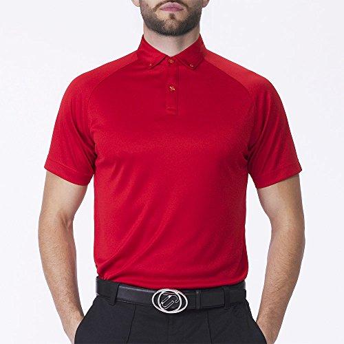 IJP Design, Polo da Golf Uomo - Raglan, Rosso (Feuerwehrrot), L