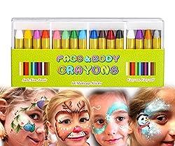 Ofertas Tienda de maquillaje: ❤COLORES BRILLANTES - Este juego viene con 16 lápices de colores para maquillaje: blanco (2), amarillo, rojo, naranja, rosa, verde claro, verde oscuro, azul claro, azul oscuro, chocolate, morado claro, morado oscuro, negro. ❤CRAYONES NO TÓXICOS - MiM...