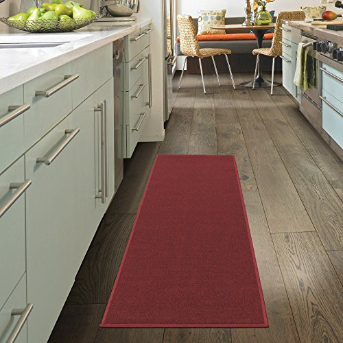 Ottomanson Oscar Collection Runner Rug, 20' x 59', Dark Red