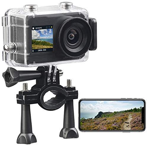 Somikon Zeitraffer Kamera: UHD-Action-Cam mit 2 Displays, WLAN und Marken-Bildsensor, IPX8 (Action Cam 4K)