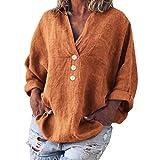 Camiseta de manga larga para mujer, suéter informal de manga larga para otoño, moderna, ropa interior de invierno, naranja, M