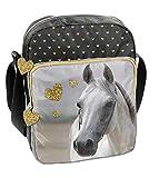 Ragusa-Trade Pferde Fan Mädchen Kinder - Handtasche Schultertasche Umhängetasche