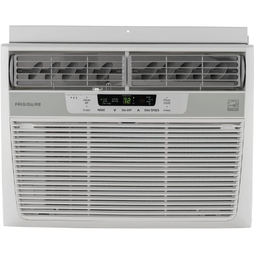 Frigidaire 12,000 BTU 115V Window-Mounted Compact Air Conditioner with Temperature Sensing Remote...