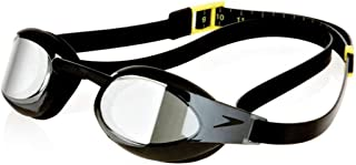 Speedo Fastskin3 Elite Mirrored Goggle Performance Swim Goggles - Black