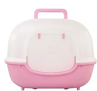 HSDFGJSDF Cute Hello Kitty Totally Closed Cat Litter Pet Cat Toilet Scoop Free Litter Box Kitty Fully Enclosed Training Kit Large Bedpans,A