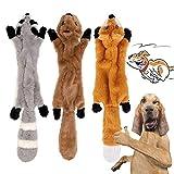 Yami 3 Paquetes Perro Squeaky Masticar Juguetes Sin Relleno de Juguetes para Perros Plush Animal Dog...