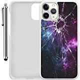"""Custom Case Compatible with iPhone 11 Pro (5.8"""") (Cracked Screen Prank) Plastic White Cover Ultra Slim 