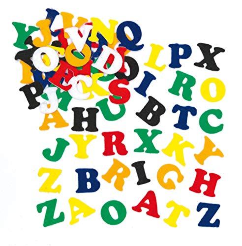 Baker Ross Selbstklebende Filz-Buchstaben im Vorteilspack zum Basteln für Kinder - ideal für Schriftzüge und als Dekoration - 550 Stück