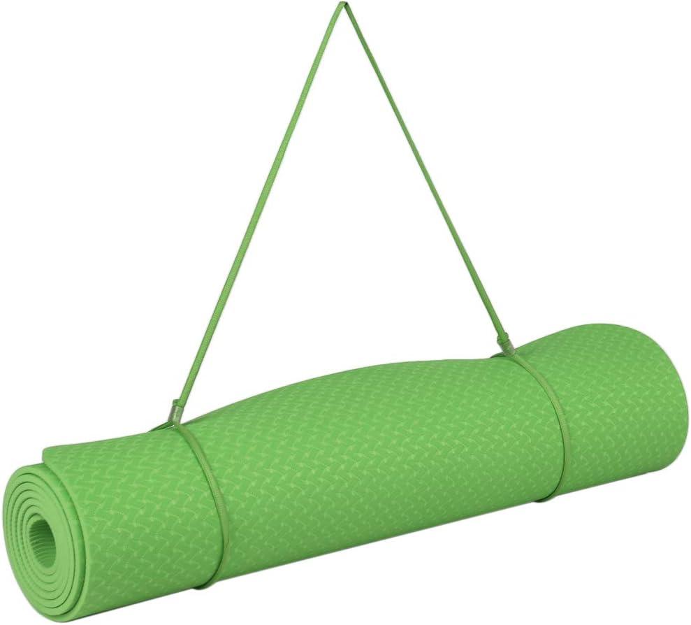Roeam Esterilla Yoga Esterilla Deporte Antideslizante con Material Ecol/ógico TPE Alfombrilla de Yoga con Correa de Transporte y Bolsa de Almacenamiento,183cm x 61cm